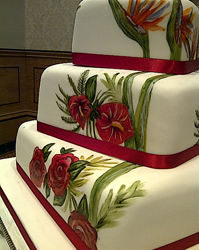 hand painted wedding cake harroagte